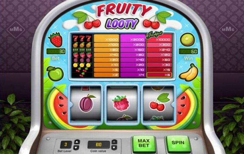 Een van de automaten die je bij Classic Jackpot spelen kunt is de Fruity Looty.